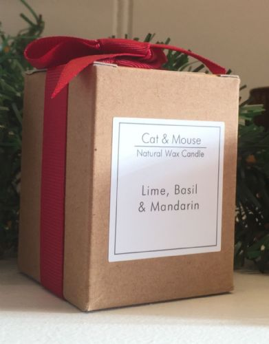 Scented Candle  9cl in a Gift Box - Lime Basil & Mandarin